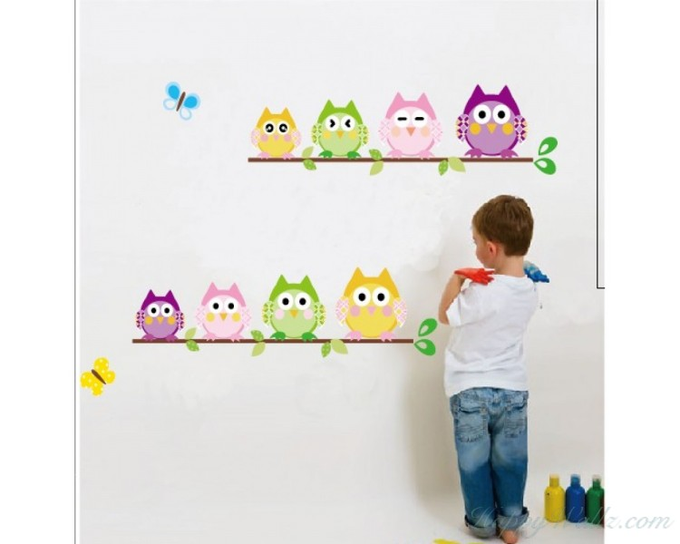 Happy Owls Wall Sticker