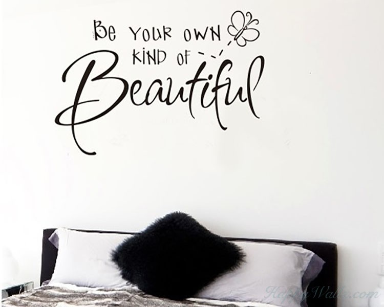 Be Your Own Quotes Wall Decal Motivational Vinyl Art Stickers