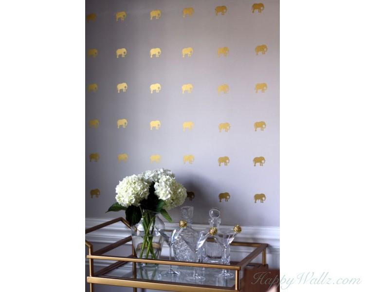 Elephant Pattern Wall Decal