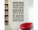 House Rules Quotes Wall Decal Family Vinyl Art Stickers