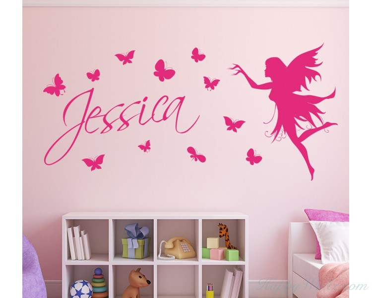 Personalized Name with Butterflies and Fairy