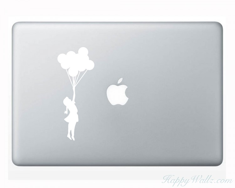 Computer Sticker - Banksy Girl Balloon