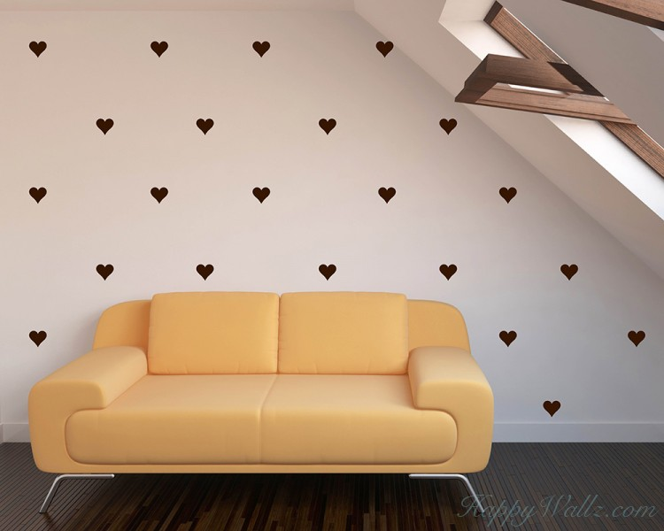 Heart Pattern Wall Decal Baby Nursery Modern Vinyl Sticker