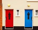 Modern Male Female Figures Wall Decal Door Sticker Modern Vinyl Wall Decals