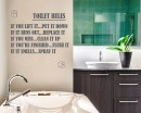 Toilet Rules Quote Wall Stickers Washroom Vinyl Decals Family Lettering