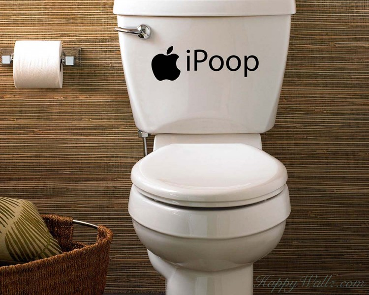 iPoop Bathroom Wall Decal