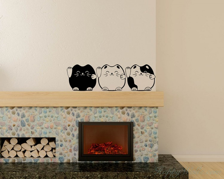 A Set of Cats Wall Decal