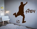 Soccer Man Decan and Personalized Name Decal