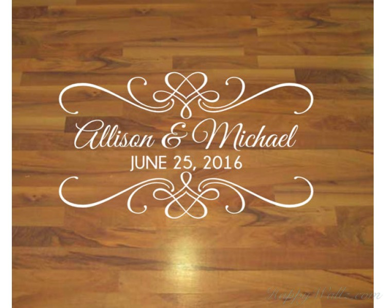 Dance floor decal in Wedding or engagement Party