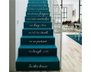 Vinyl Stair Decals - In This House We Do - Staircase Riser Decor