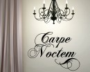 Carpe Noctem Latin Phrase Decal