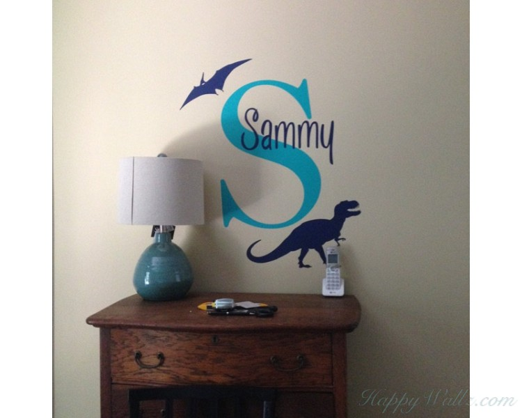 Dinosaur Decal With Personalized Name