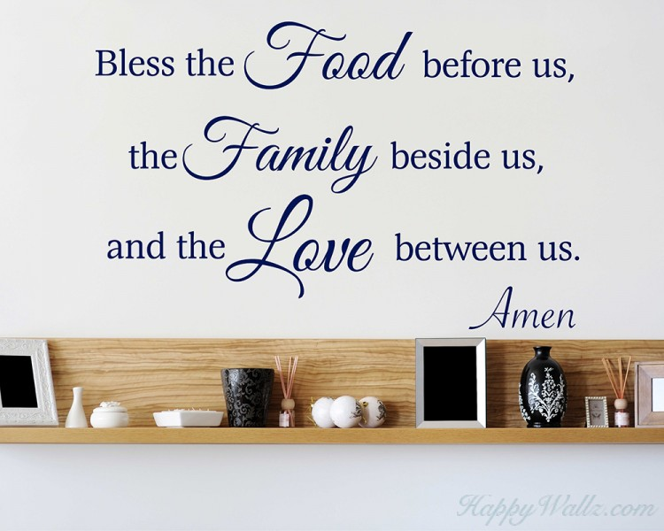 Bless the Food Before Us - Meal Prayer Decal Religious