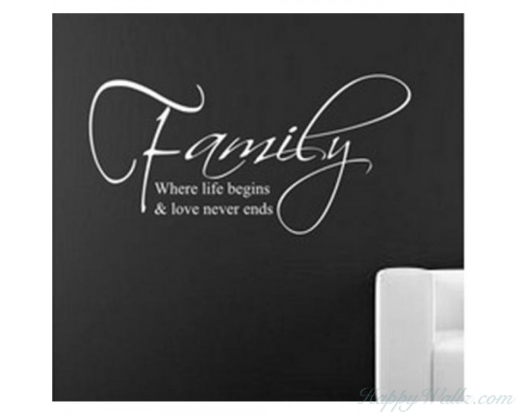 Family: Love never Ends Quote Wall Quote