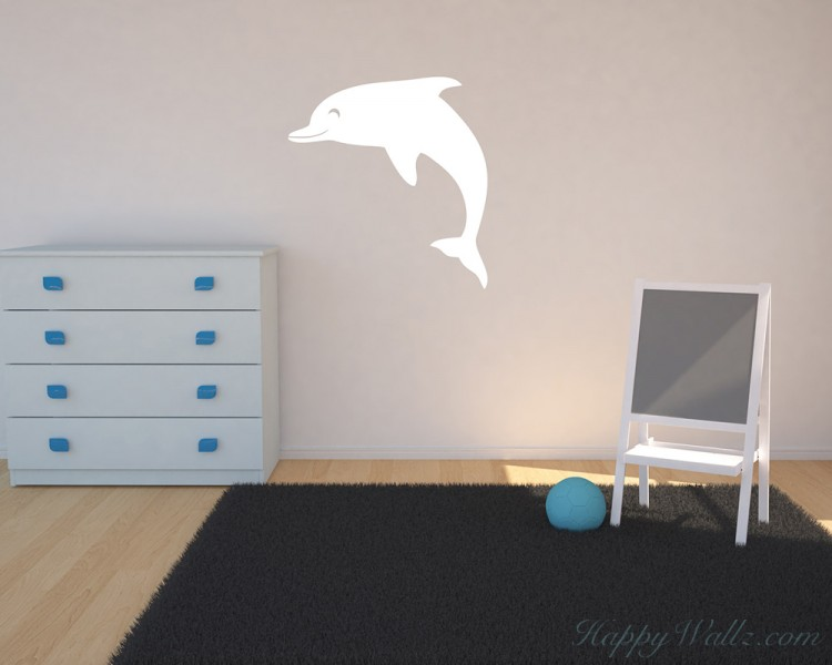 Lovely Dolphin Wall Decal