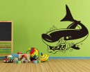 Shark Animal Wall Art Beautiful Vinyl Stickers
