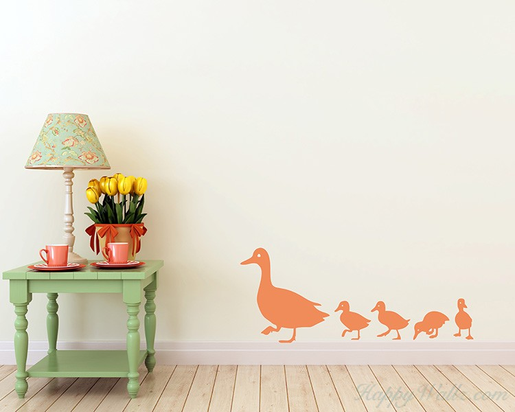 Ducks Family Wall Decal Animal Wall Decal For Children