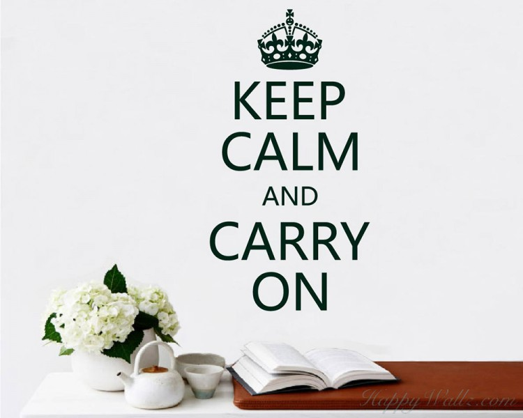 Keep Calm and Carry On Quote Decal