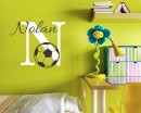 Football Customized Name Cartoon Decal For Nursery