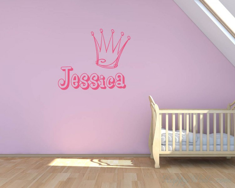 Customized Name with Crown Decal