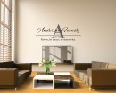 Customized Family Name Vinyl Family Wall Art Decal