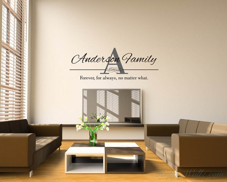 Customized Family Name Decal
