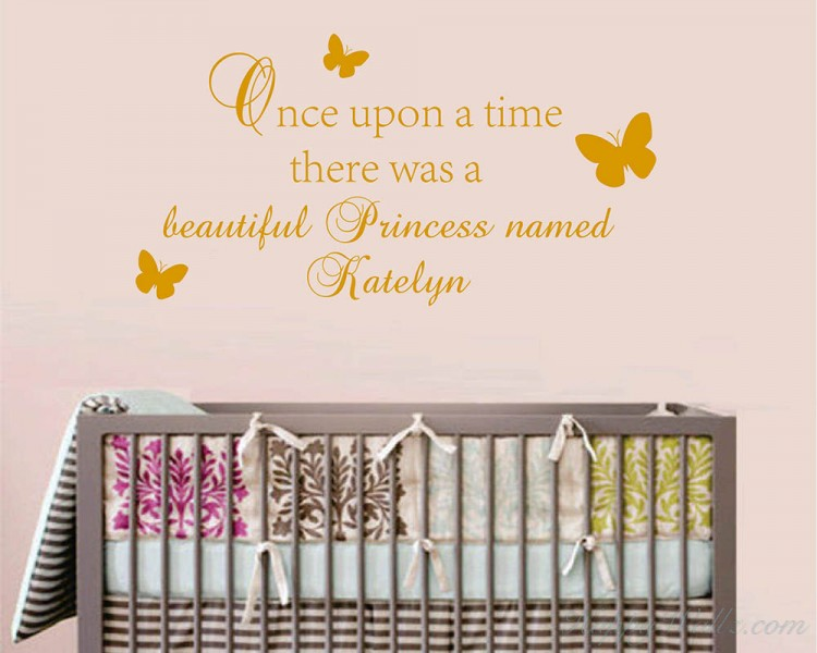 Customized Name Quotes For Princess Vinyl Nursery Decal