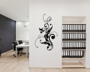 Beautiful Floral Vines Vinyl Decals Modern Wall Art