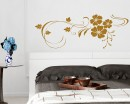 Beautiful Flowers Wine Vinyl Wall Decals Modern Art