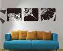 Flower Frame Vinyl Decals Modern Wall Art