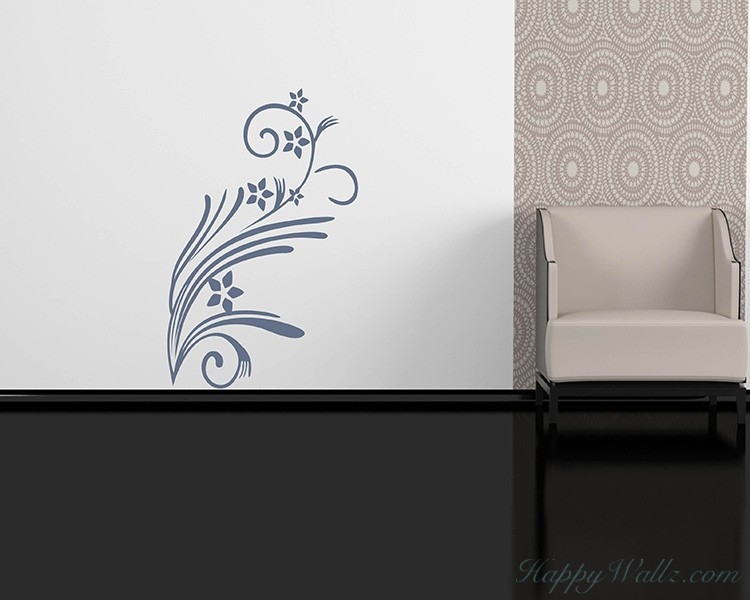 Floral Vines Vinyl Decal