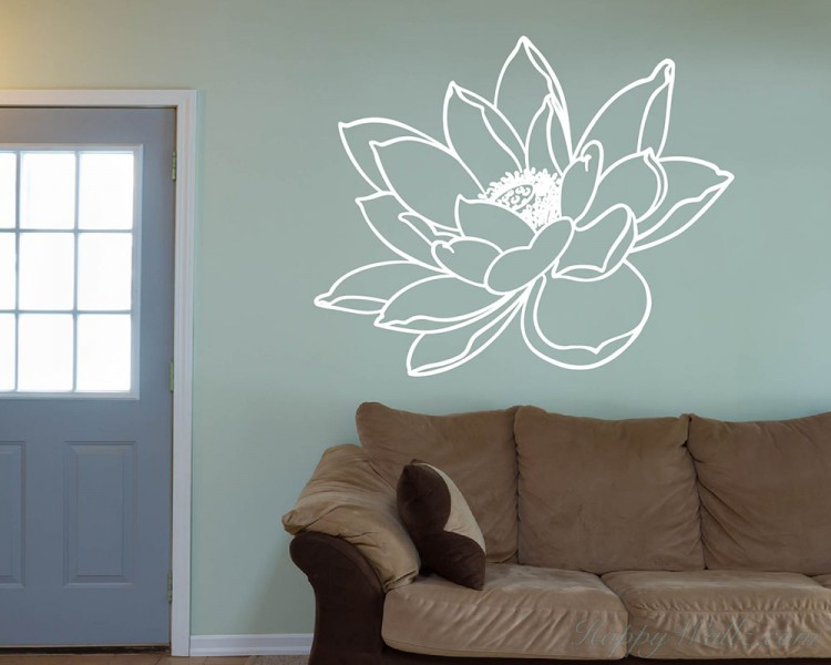 Water Lily Flower Decal