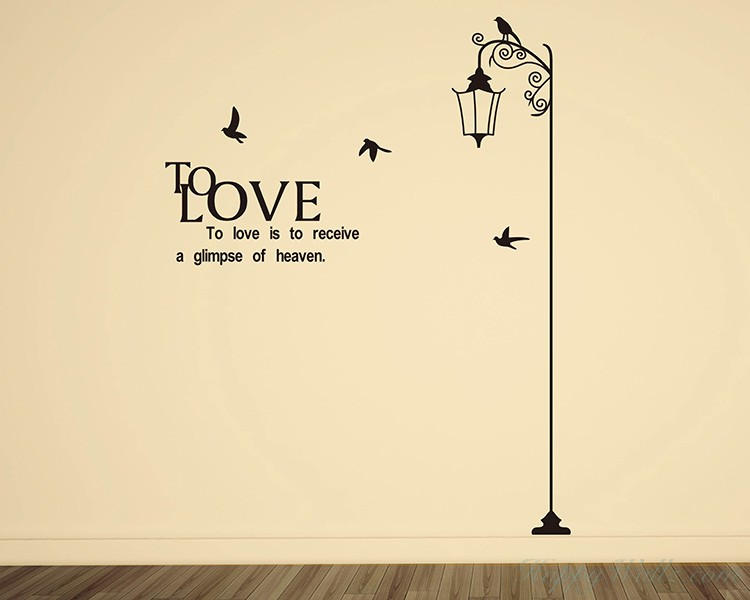 Street Lamp with Quotes Decal