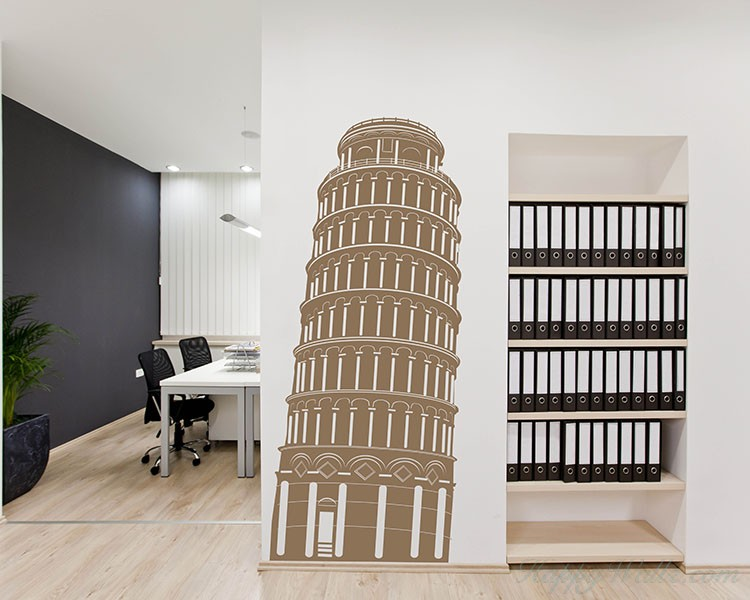 Leaning Tower of Pisa Vinyl Decals Modern Wall Art Sticker