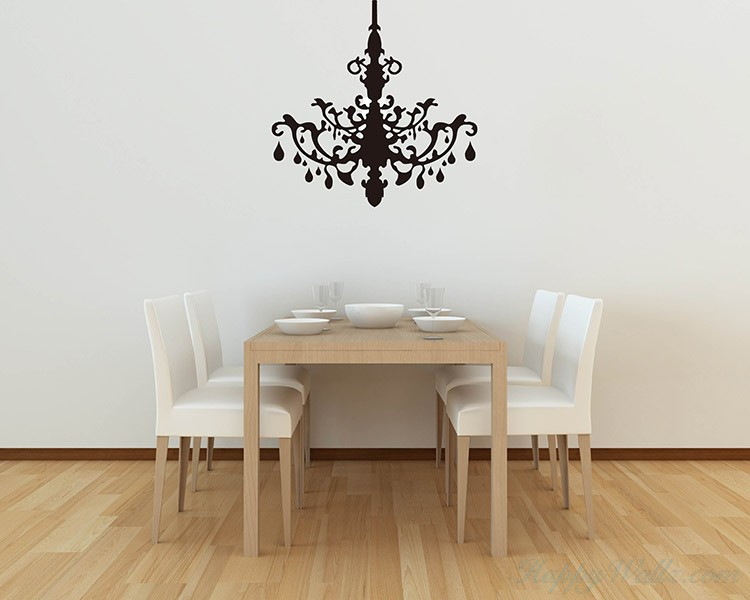 Chandelier Wall Decal Vinyl Decals Modern Wall Art Sticker