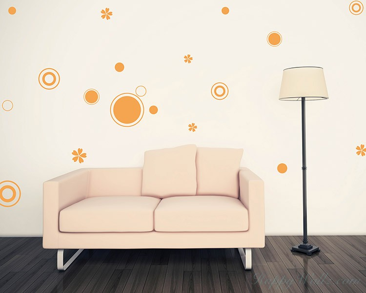 circles pattern vinyl decals modern wall art sticker