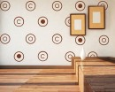 A Set of Circles Vinyl Decals Modern Wall Art Sticker