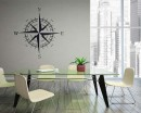 Compass Vinyl Decals Modern Wall Art Sticker