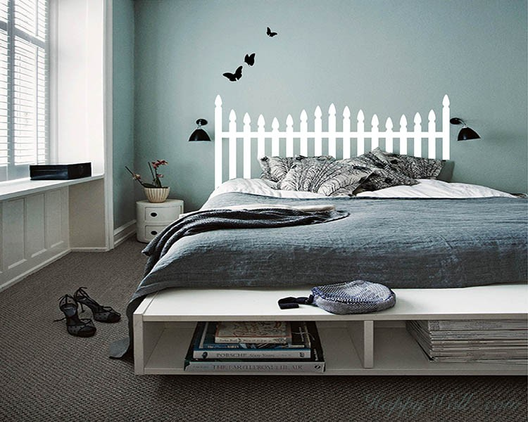 Headboard Decal with Butterflies