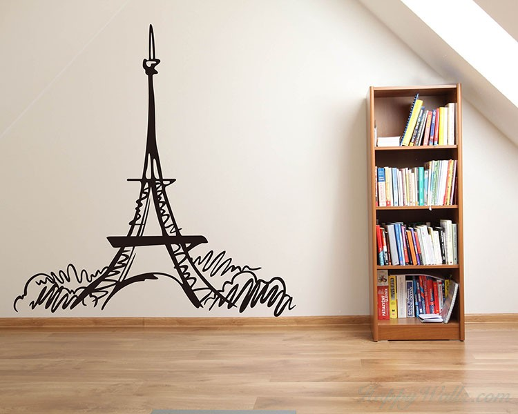Eiffel Tower Vinyl Decals Modern Wall Art Sticker