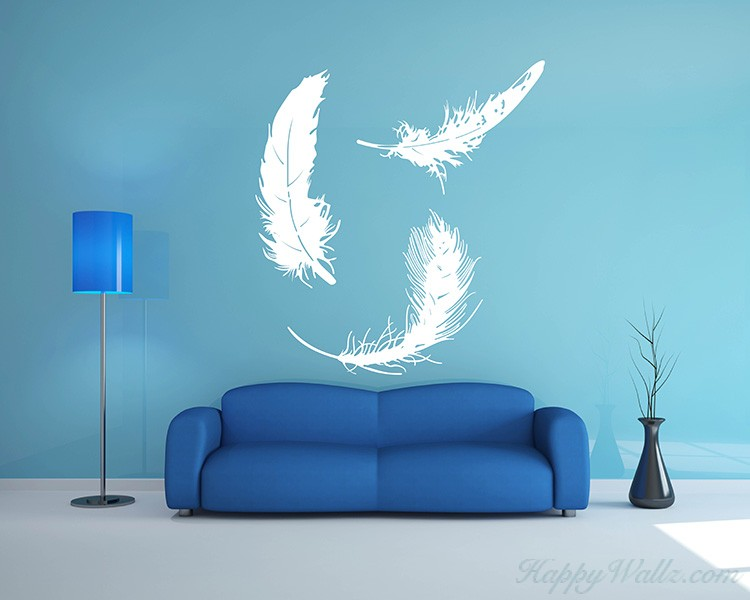 A Set of 3 Feathers Decal