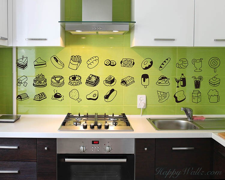 Lovely Food Kitchen Wall Decal