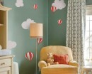 Hot-air Balloons Clouds Vinyl Wall Decals Nursery Sticker
