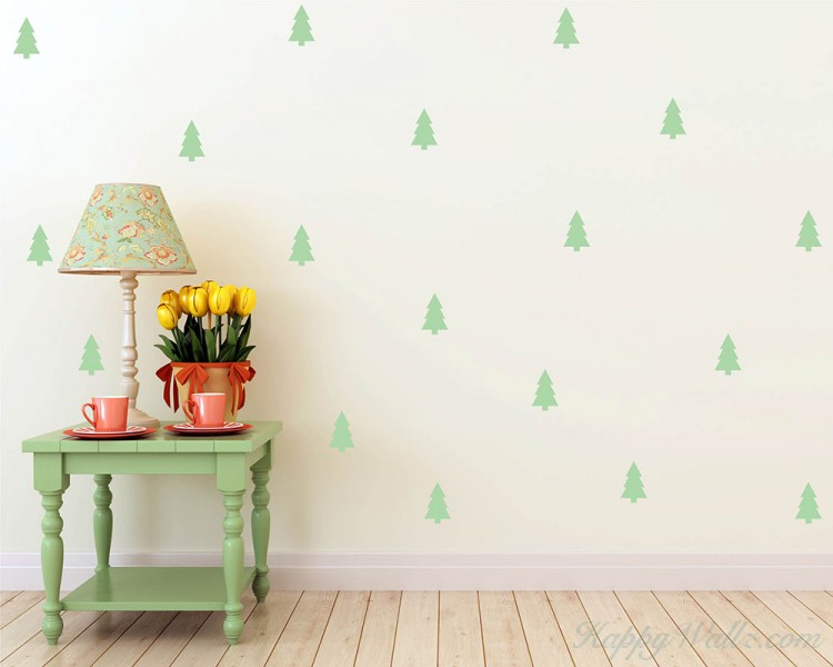 Tree Pattern Wall Decal Nursery Modern Vinyl Sticker