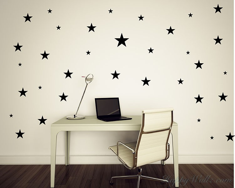 Stars Wall Decal Nursery Modern Pattern Vinyl Sticker