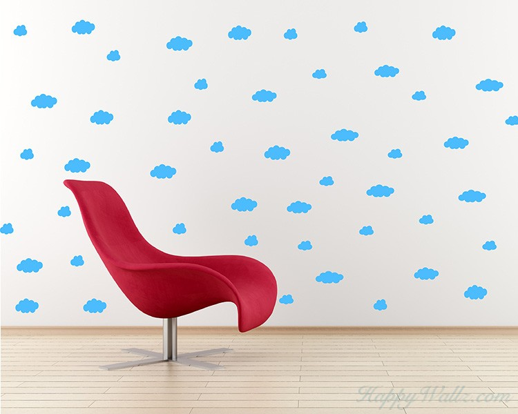 Clouds Pattern Wall Decal