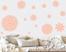 Flowers Pattern Wall Decal Modern Vinyl Sticker