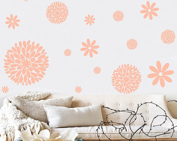 Flowers Pattern Wall Decal