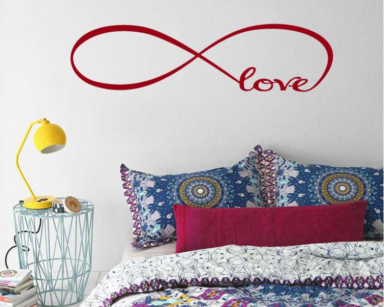 Infinity Love Quotes Wall Decal Quotes Vinyl Art Stickers Beauteous Infinity Love Quotes