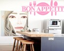 Bon Appetite Quotes Wall Decal Family Quotes Vinyl Art Stickers
